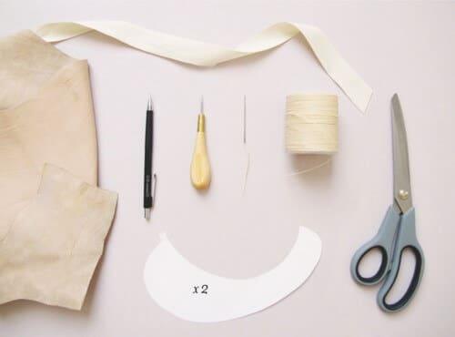 Zubehör für den Kragen mit Schleife - Mode zum Selbermachen