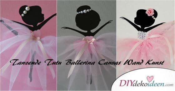 Tanzende Tutu Ballerina Canvas Wand Kunst für deine kleine Balletttänzerin