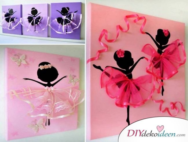 tanzende tutu ballerina canvas wand kunst f r deine kleine ballettt nzerin. Black Bedroom Furniture Sets. Home Design Ideas