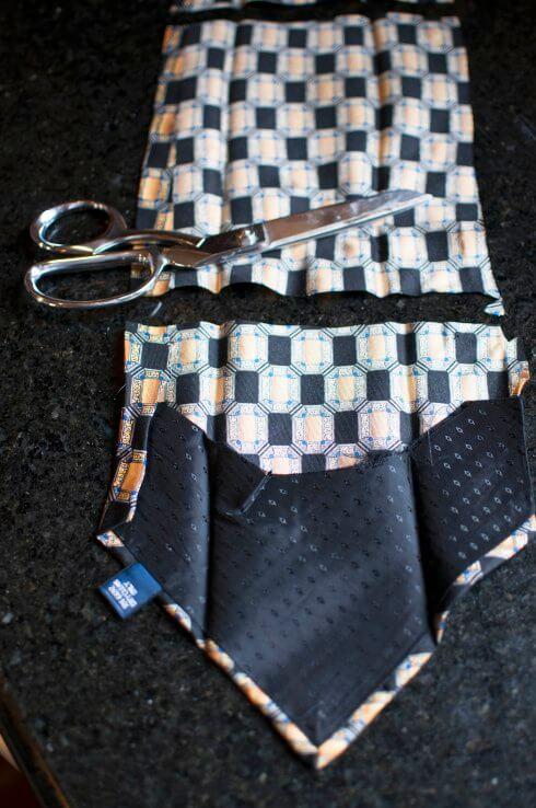 Eine Krawatte zerschneiden - Osterei DIY Ideen