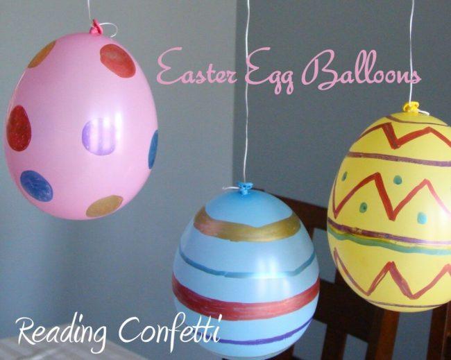 DIY Ideen mit Kindern zu Ostern- Osterei Luftballons