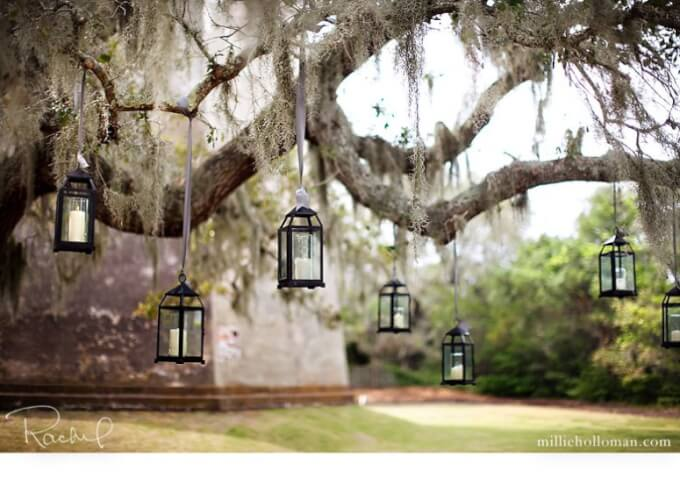Romantisches Licht im Garten - Gartenparty-Deko selber machen