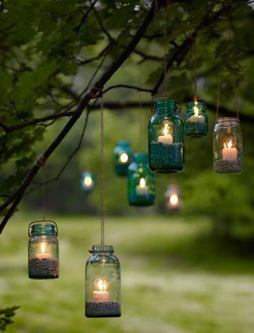 DIY Gartenlicht - Bastelideen mit Einweckgläsern