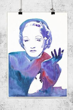 Marlene Dietrich Bild - Wanddeko für dein Hollywood-Heim