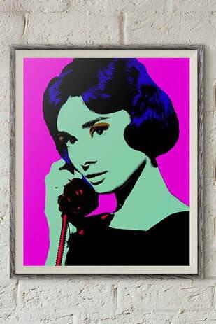 Audrey Hepburn Leinwand-schöne Wanddeko mit Weltstars