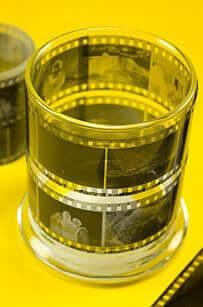 Alte Negativfilme wiedeverwenden - Kerzenglas Deko selber machen