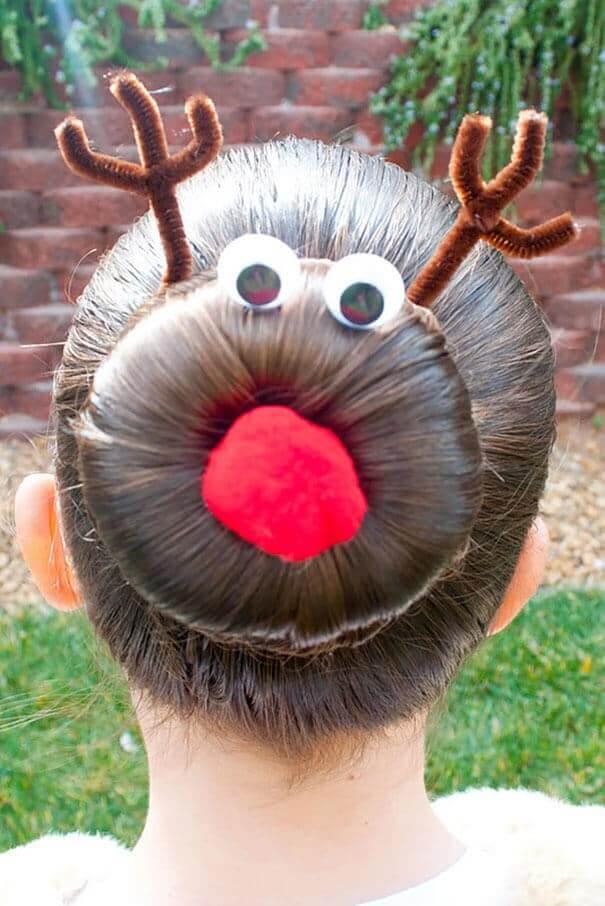 Rentier Haare - lustige Frisur zu Weihnachten