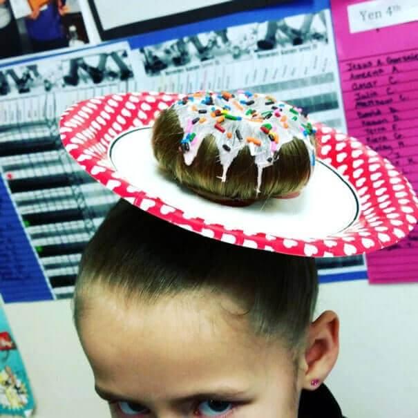 Dutt-Donut Frisur - Lustigste Frisuren auf der Welt
