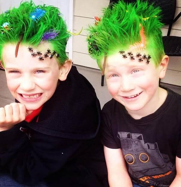 Verrückte Frisuren - Haare grün färben