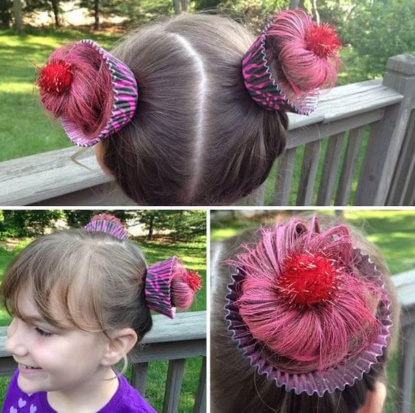 Muffin Haare - Lustige Frisur-Ideen für Mädchen - Karneval Ideen