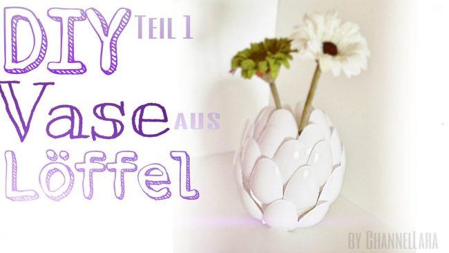 Diese Dekoideen zu Ostern werden die Lieblingsprojekte deiner Kinder sein - DIY Vase aus Löffel