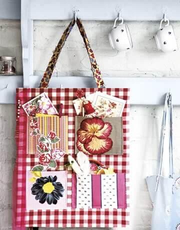 Küchendeko Ideen - Einkaufstasche wiederverwenden