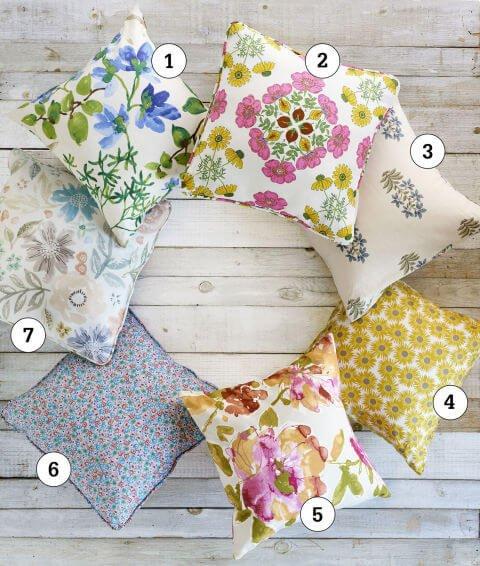 Kissen mit Blumenmuster - Flühlingsdeko Ideen