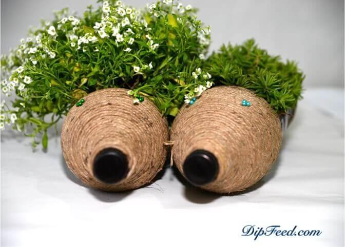 Toller Blumentopf selber machen - DIY Bastelideen für den Frühling