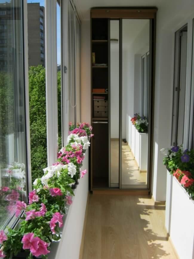 Balkon mit Spiegel - Wohndeko Ideen