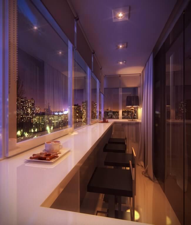 Eine Lounge aus einem Balkon schaffen