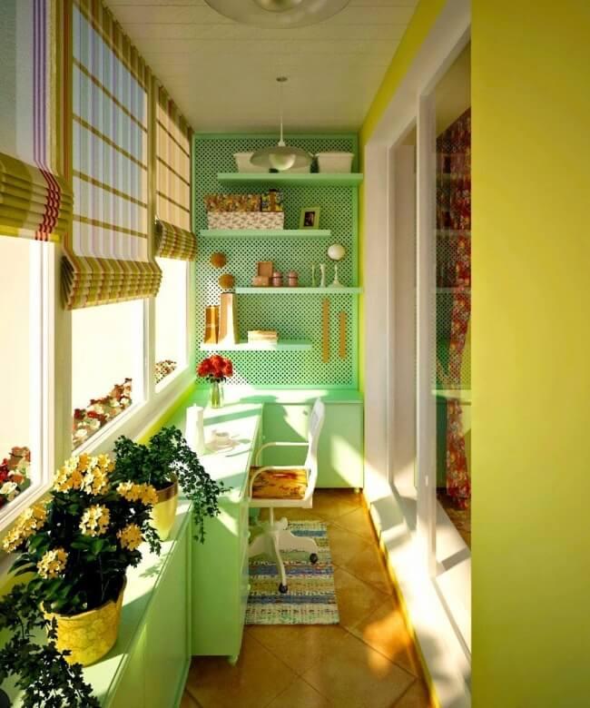 Balkon Deko-Idee mit Grün