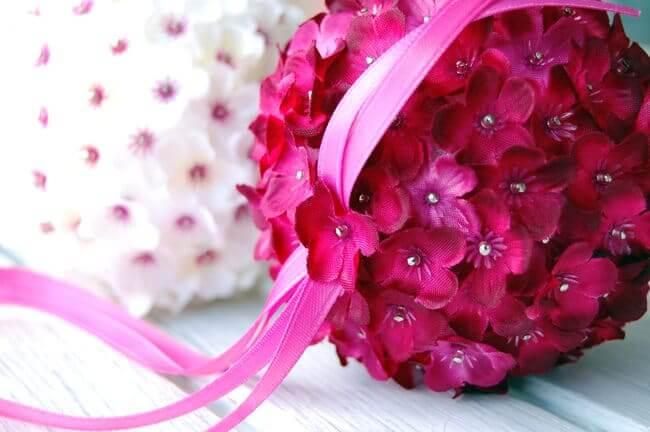 Pinke Dekoration zum Selbermachen