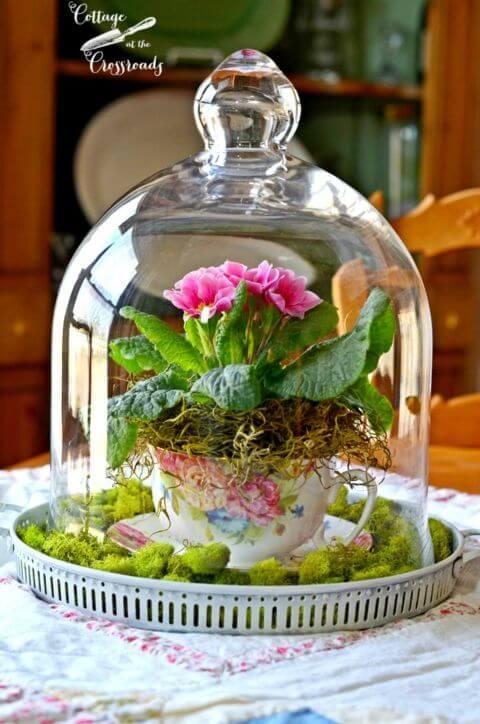 Garten gestalten mit Teetassen - lustige DIY-Projekte