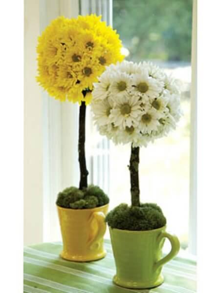 Blumendeko in Tassen - DIY Dekoideen