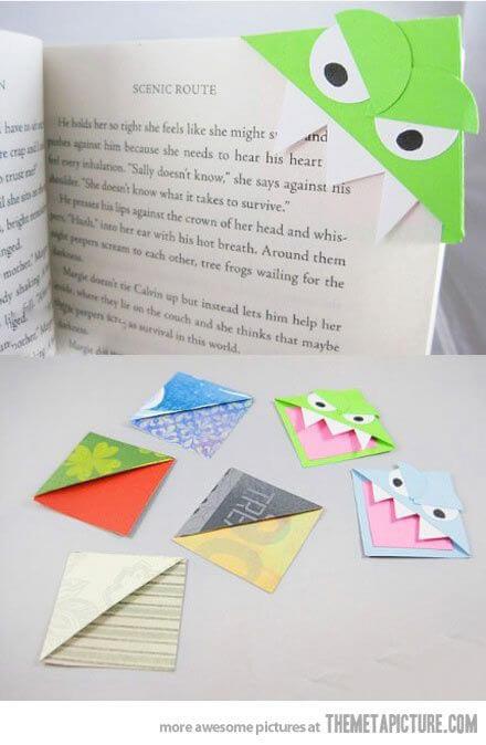 DIY Monster-Lesezeichen - Lustige Origami-Projekte