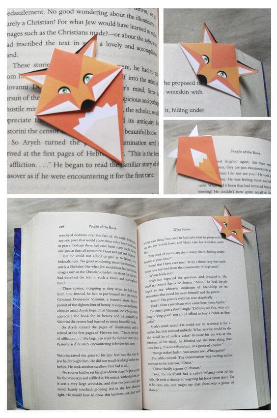 Fuchs-Lesezeichen selber machen - Bastelideen für Kinder