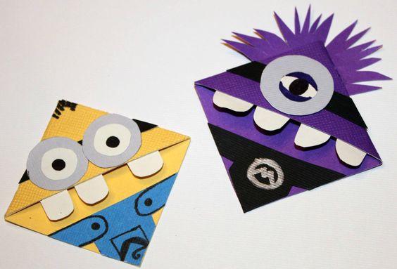 Minion-Lesezeichen-Ideen, lustige Origami-Bastelideen