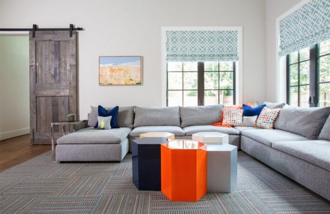 Bunte Farben kominieren - Wohnzimmer-Ideen