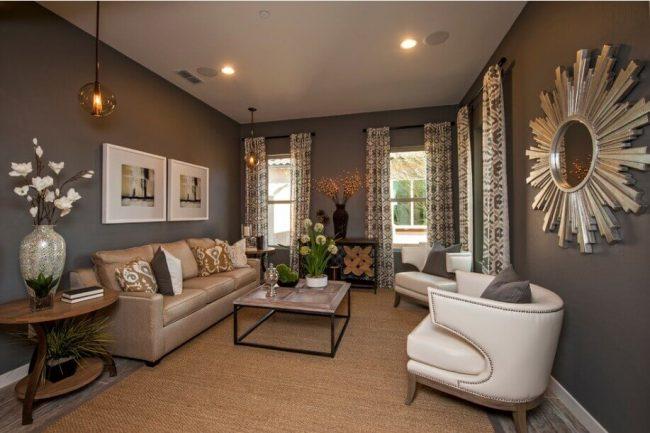 Gemusterte Textilien in den Räumen verwenden - Gardinen-Kissen-Deko