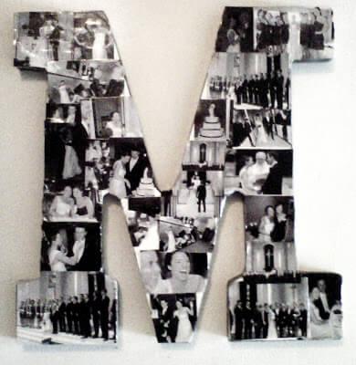 Buchstaben-Fotokollage - DIY Dekoration