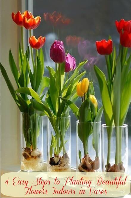 Wohndeko mit Tulpen - Blumen in der Wohnung