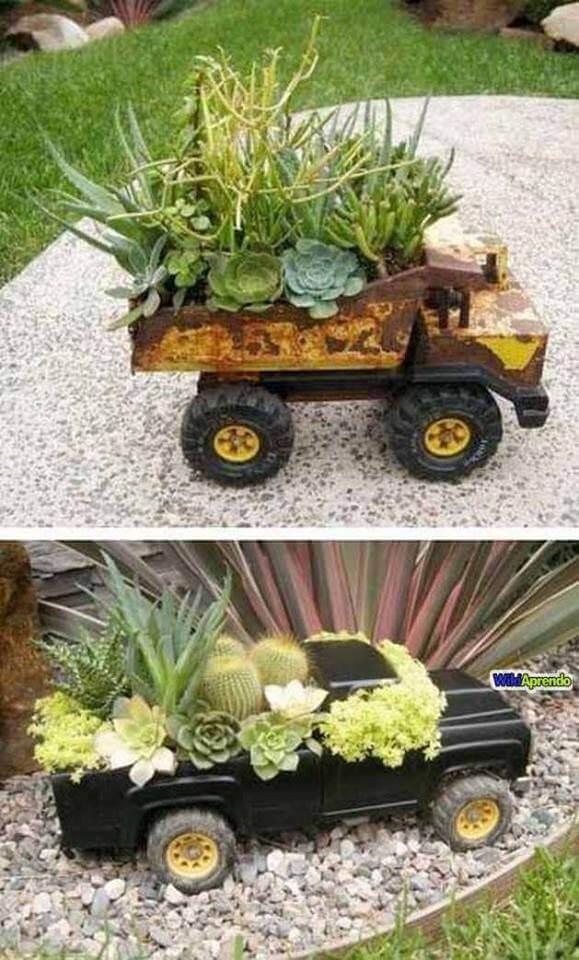 DIY Dekoideen mit Blumen für den Garten