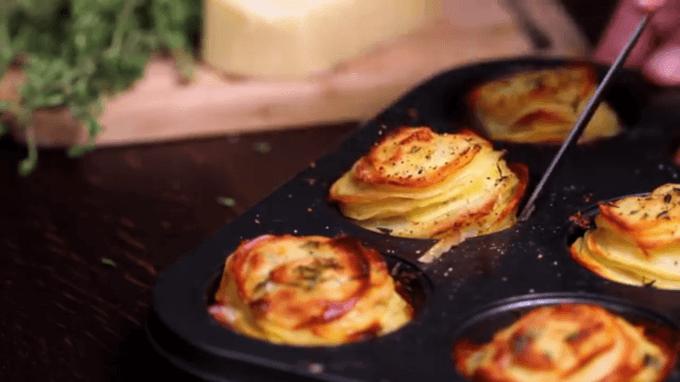 Kartoffeltürmchen in Muffinformen backen