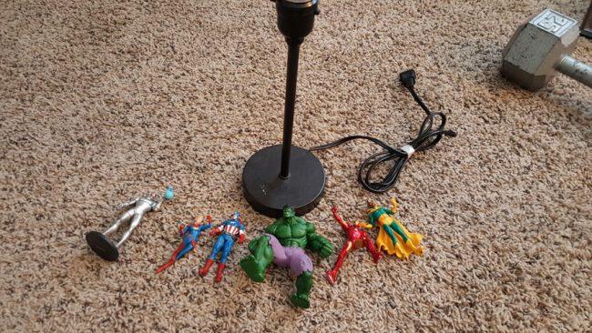 Figuren für die Action- Lampe aussuchen