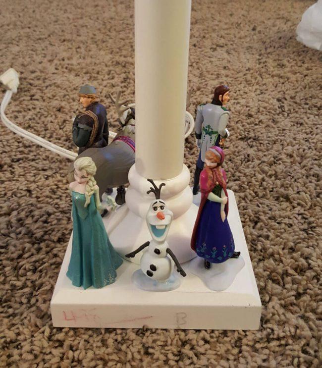 Märchenfiguren-DIY Stehlampe für Mädchen basteln