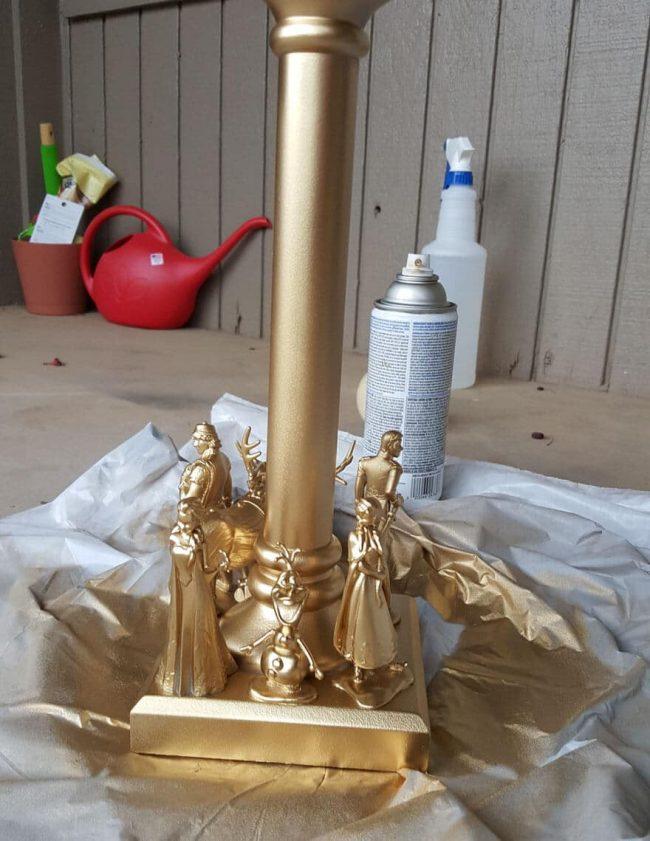 goldene Lampe selber machen - Bastelideen für Mädchen