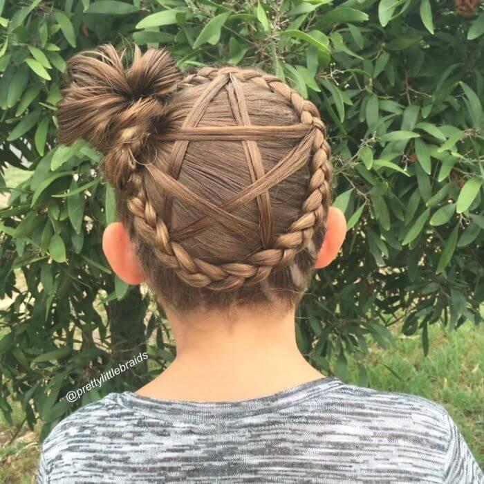 Flechtfrisur mit Stern-wunderschönes Haardesign für die Hochzeit