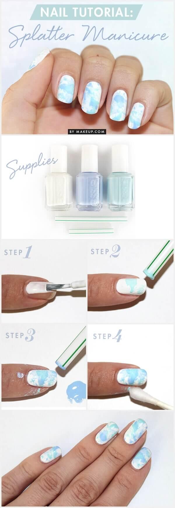 Splatter DIY Maniküre mit ESSIE selber machen