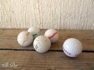 Alte Golfbälle wiederverwänden