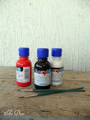 Acrylfarben für den Marienkäfer