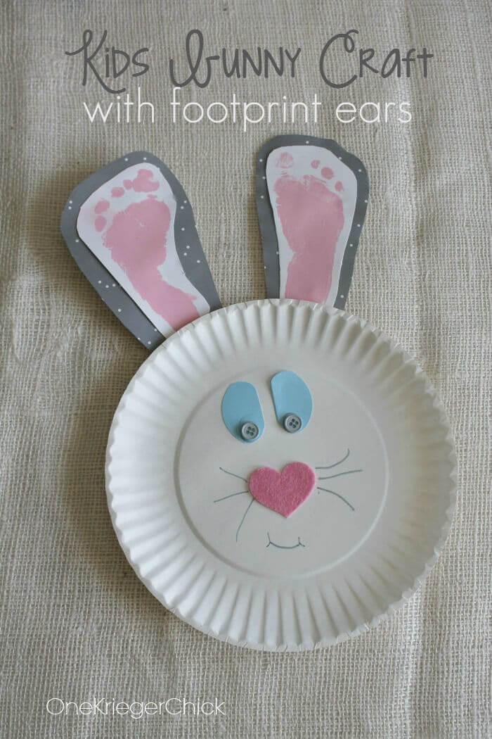 Häschen mit Fußabdrücken - DIY Geschenk zu Ostern
