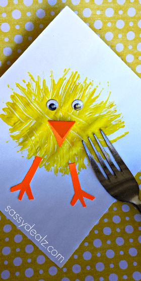 Küken malen - Basteln mit Kindern - Ostergeschenk selber machen