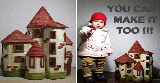 so k nnt ihr aus pet flaschen ein h bsches m rchenhaus basteln. Black Bedroom Furniture Sets. Home Design Ideas