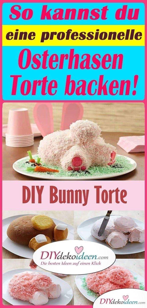So kannst du eine professionelle Osterhasen Torte backen!