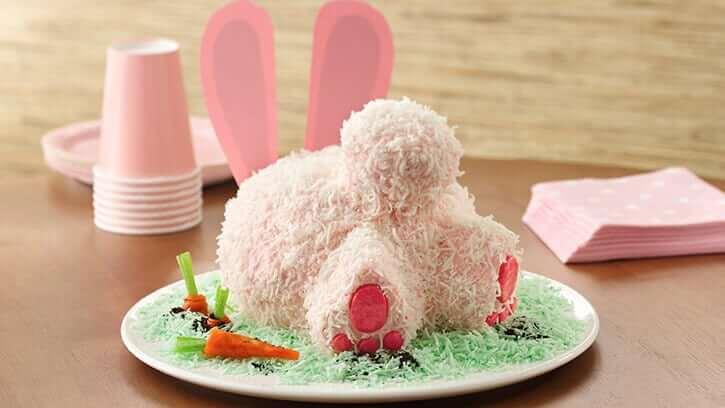 Osterhase Torte-Rezept - schneller Kuchen zu Ostern machen
