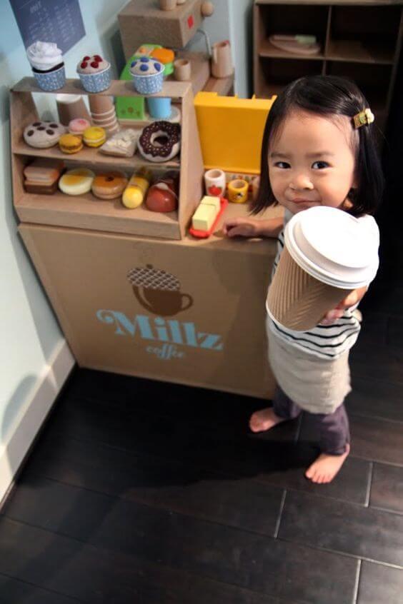DIY Kaffeeküche für Kinder basteln