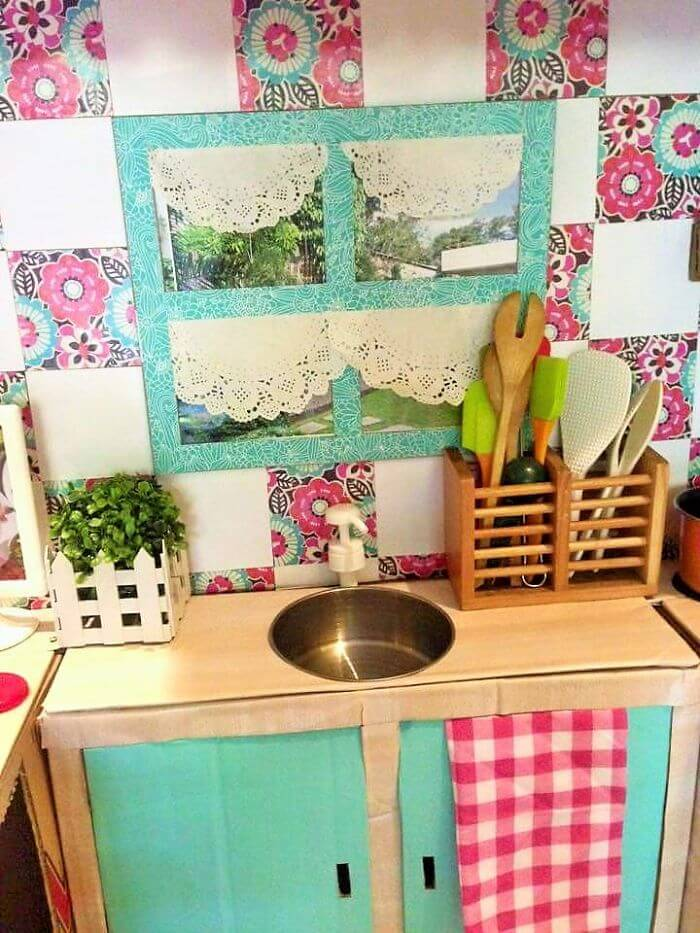 Kleine Küche für Kinder einrichten