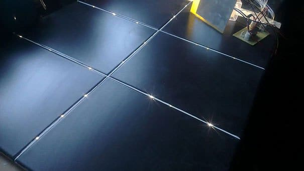leuchtender Boden - Badezimmer Deko Ideen