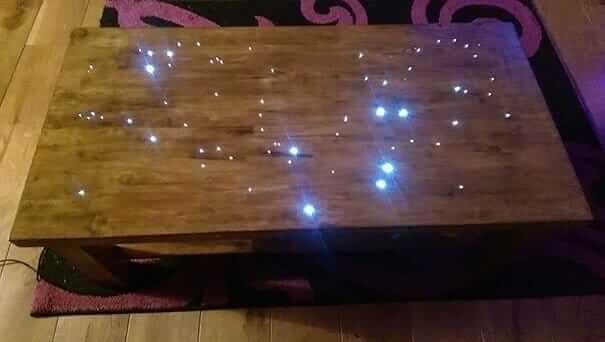 leuchtenden Tisch selber basteln - DIY Wohnideen mit Lichtern