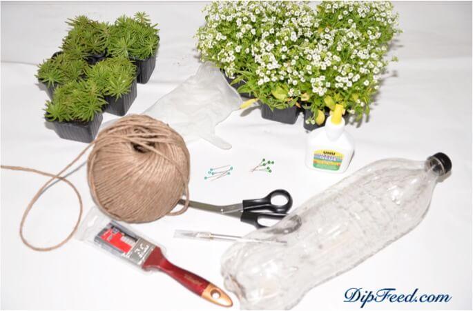 Übertopf mit Pflanzen selber gestalten - DIY Deko Ideen